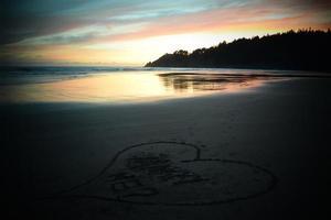 l'amour sur la plage