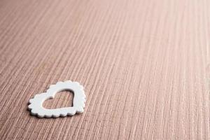 un symbole de coeur blanc photo
