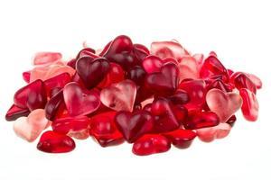 coeurs de gencives rouges aux couleurs vives photo