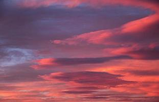 ciel coucher de soleil coloré photo