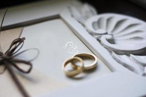 anneaux de mariage avec invitation