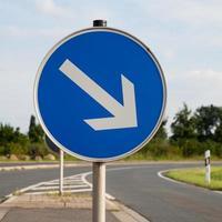panneau routier, droite photo
