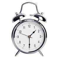 le réveil montre la moitié de la seconde