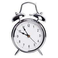 cinq minutes à dix sur un réveil