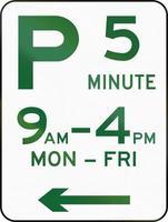 cinq minutes de stationnement en australie photo