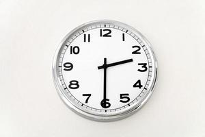 horloge murale, mesure du temps, gros plan photo