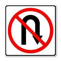 aucun panneau de signalisation de retour
