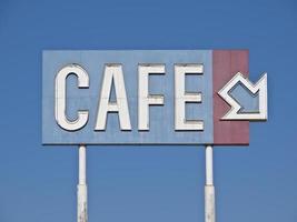 signe de café générique vintage