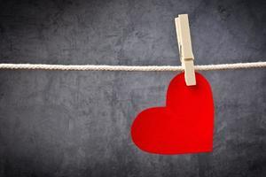 carte de saint valentin en forme de coeur photo