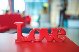 étiquette d'amour photo