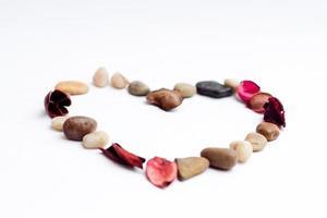 coeur amour saint valentin pierres photo