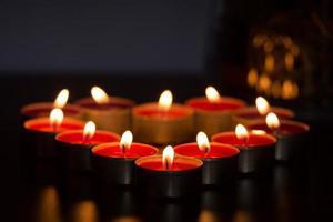 bougies en forme de coeur photo