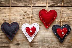 carte de coeur d'amour de la saint-valentin photo