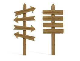 Deux vieux poteaux en bois