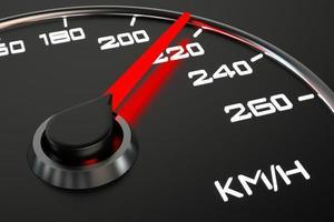 gros plan de compteur de vitesse