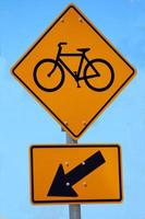 panneau de signalisation de vélo photo
