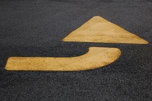 flèche jaune # 2 photo