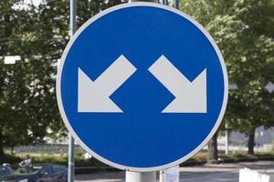signe de double flèche photo