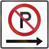 pas de parking à droite au canada