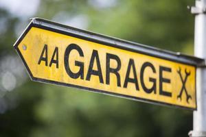 signe indicateur de garage