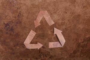 vieux fond de parer avec signe de recyclage