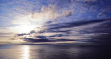 horizon impressionnant. photo