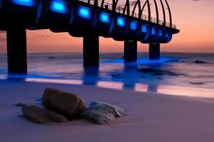 umhlanga pier lever du soleil photo