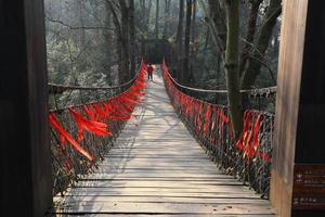 pont de ruban rouge