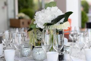 décoration de table de mariage photo