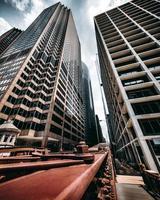 ville avec immeubles de grande hauteur photo