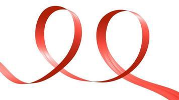 ruban rouge en forme de deux boucles