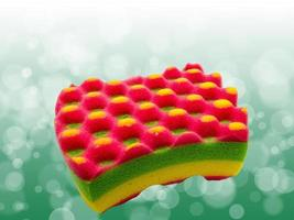 éponge colorée de bain photo