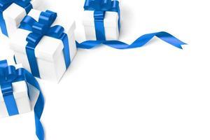 ensemble de coffrets cadeaux avec un ruban photo