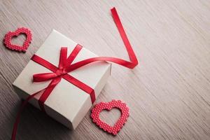 boîte-cadeau rouge de bijoux photo