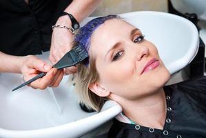 coloration des cheveux photo