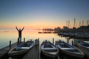 lever de soleil tranquille photo