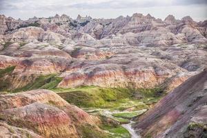 paysage de monticules jaunes dans les badlands photo