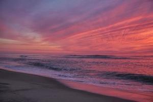 plage de la garde côtière avant l'aube photo