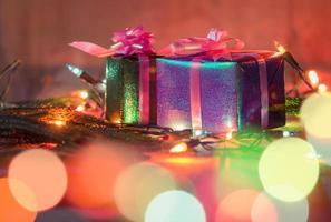 coffrets cadeaux de Noël. photo