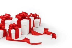 boîtes avec des cadeaux photo
