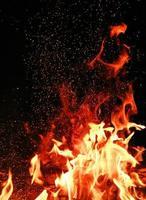 feu avec des étincelles