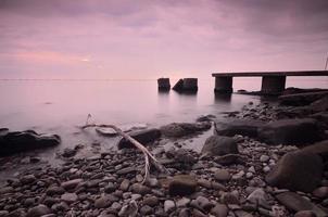 coucher de soleil sur la mer - tramonto sul mare photo