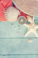 l'heure d'été avec des coquillages photo