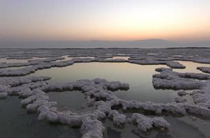 lever du soleil à la mer morte photo
