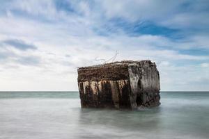 bunker sur la mer baltique photo
