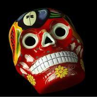 crâne mexicain artisanal