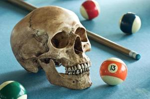 crâne avec numéro 13