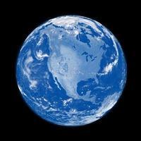 amérique du nord sur terre bleue photo
