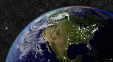 amérique du nord depuis l'espace photo