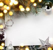 art fond de vacances de Noël; lumière d'arbre photo